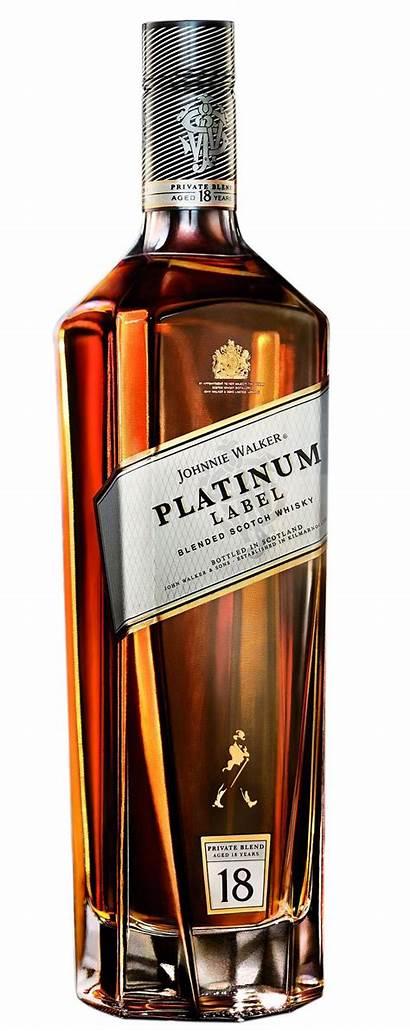 Walker Johnnie Whiskey Scotch Label Platinum Whisky