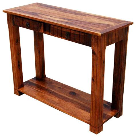 solid mahogany wood entry wall console sofa table solid wood 2 storage drawer sofa entryway console table
