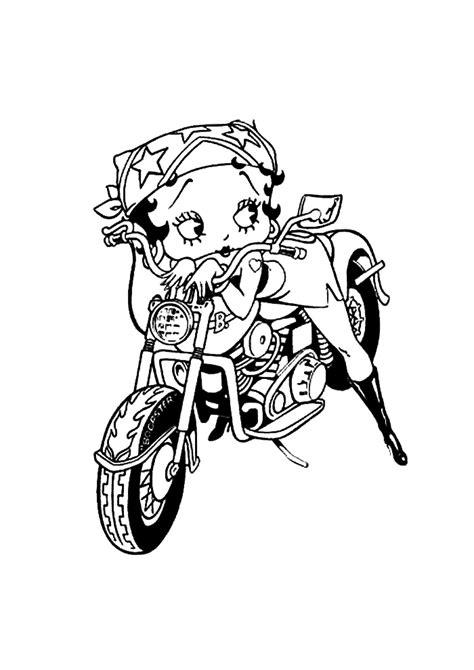 Betty Boop Kleurplaat by Betty Boop Op De Motor Betty Boop Kleurplaten