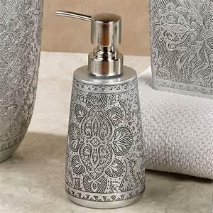 Silver bathroom accessories bathroom interior home for Gold and silver bathroom accessories