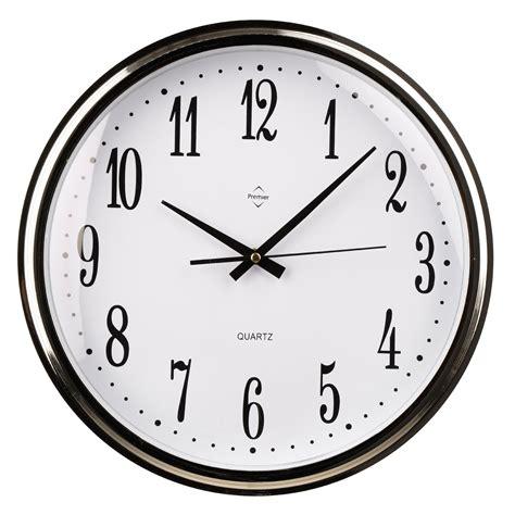 plastic silver black kitchen wall mountable clock