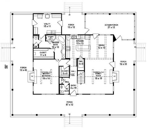 2 Bedroom House Plans With Porches by 2 Bedroom Floor Plans With Wrap Around Porch