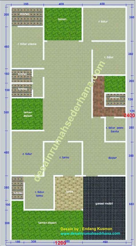 rancangan desain desain rumah  lantai  kamar tidur