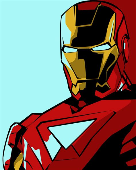 Iron Man Artwork by Iron Man Pop Art By Iamherecozidraw On Deviantart
