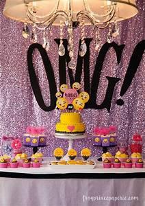 Glam Emoji Birthday Party Ideas Emoji, Smiley and Sequins