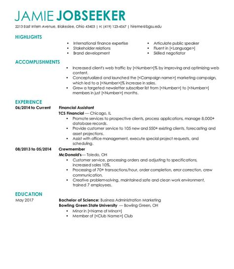 Business Degree Resume by Sle Resumes
