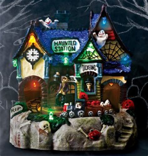 scary village light up halloween decor avon