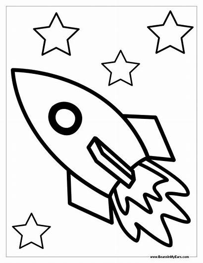 Rocket Coloring Space Ship Pages Spaceship Rockets