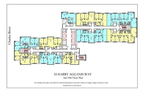 harry agganis  floor plan housing boston university
