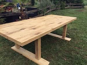 Table Exterieur En Bois : table bois exterieur avec banc id e ~ Teatrodelosmanantiales.com Idées de Décoration