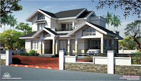 open one house plans sloped roof house elevation design kerala home floor