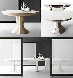 Petite Table Extensible : table ronde pour chaque coin de votre maison en 75 exemples ~ Teatrodelosmanantiales.com Idées de Décoration