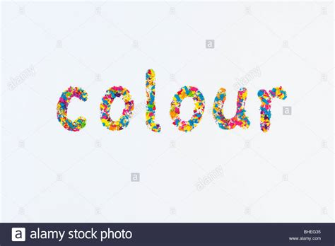color world the word colour spelling spelt using multi