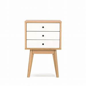 Petit Meuble A Tiroir : table de chevet scandinave skoll 3 tiroirs by drawer ~ Teatrodelosmanantiales.com Idées de Décoration