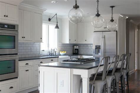black  white kitchen  tolix marais counter stools