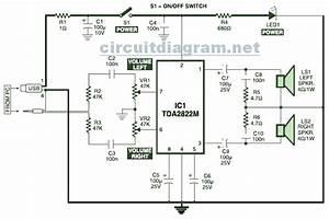 U0026gt  Circuits  U0026gt  Usb Powered Stereo Pc Multimedia Speaker
