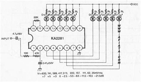 dot dual led level meter driver electronic circuit