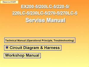 Hitachi Ex200 Lc  220 Lc  230lc 270 Lc