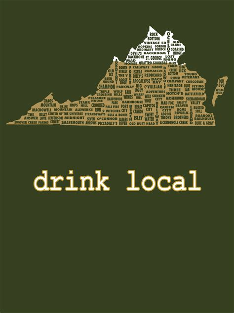 Drink Local- Virginia Beer T-shirt · Uncomfortable Yeti ...