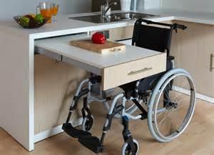 Meuble Cuisine Avec Table Escamotable : cuisine adapt e pmr avec modulhome ~ Melissatoandfro.com Idées de Décoration