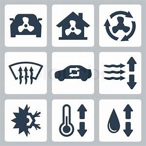 Vector Air Conditioning Icons Set