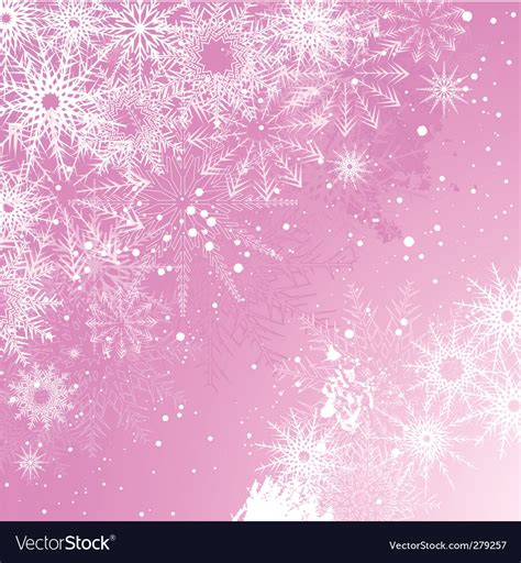 Silver Pink Snowflake Background by Pink Snowflake Background Royalty Free Vector Image