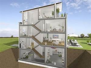 Split Level Haus Grundriss : voll im trend wohnen auf verschiedenen ebenen doppelhaush lfte in split level bauweise ~ Markanthonyermac.com Haus und Dekorationen