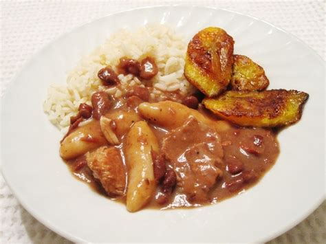 rice cuisine stew peas and rice the salted pork can be