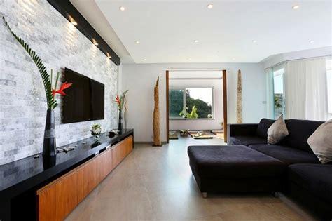 faretti soggiorno rivestimenti in pietra in soggiorno moderno idee di