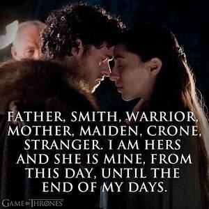 Game of Thrones... Dothraki Wedding Quotes