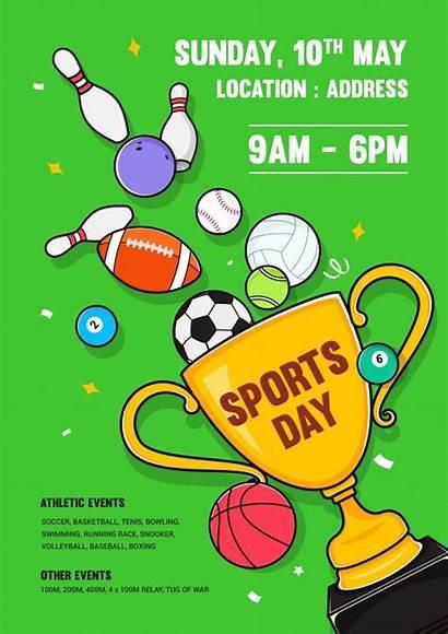 Sports Poster Invitation Vector Event Premium Card