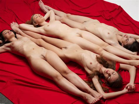 Four Naked Girls Sleeping After Party Sexy Women Zone