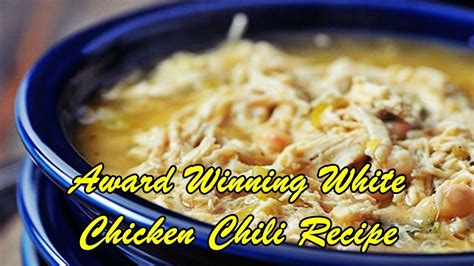 White chicken chili made with white beans, poblano chilies, cilantro, coriander and lime. Best White Chicken Chili Recipe Winner / White Chicken ...