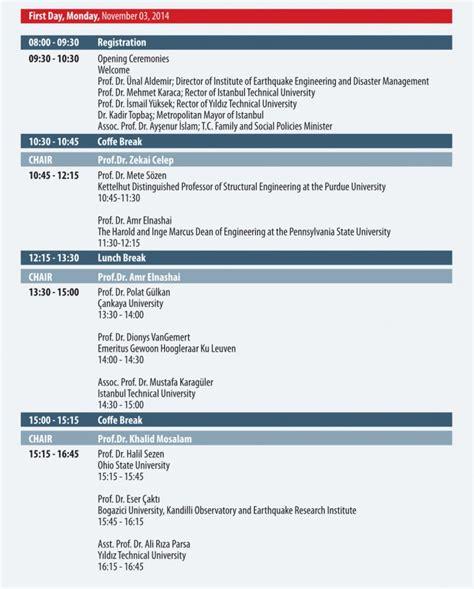 generic conference agenda  schedule template