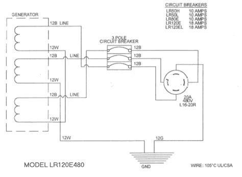 480v 3 Phase Wiring by 480v 3 Phase Generator Wiring Diagram Wiring Diagram Images