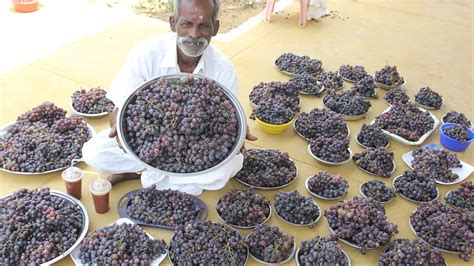 Grape Juice Prepared By My Daddy Arumugam / Village Food Factory