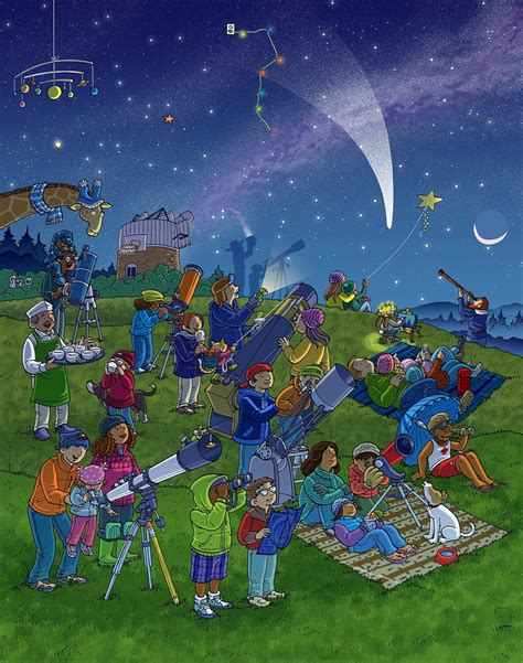 stargazing whats wrong wimmelbild created  highlights