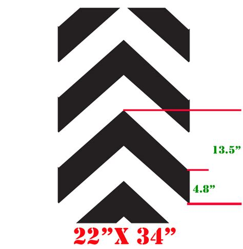 Chevron Template For Walls 8 Best Images Of Printable Chevron Stencil Free