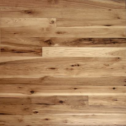 Unfinished Hickory Natural Character Rustic Grade wide