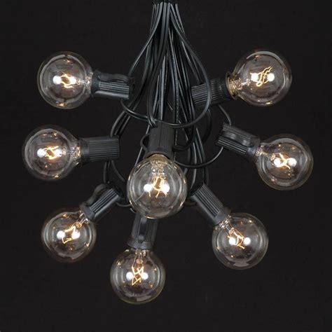 black light string lights clear g40 globe outdoor string light set on black