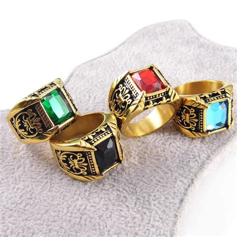 men ring  selling gifts  gold stainless steel
