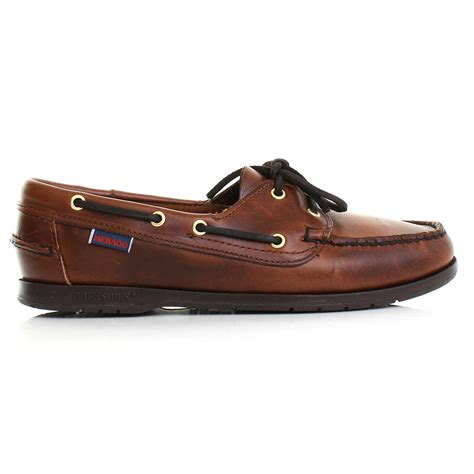 Brown Deck Shoes by Womens Sebago Victory Brown Oiled Waxy Leather Deck Shoes
