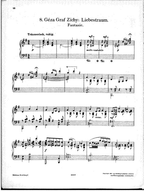 Liebestraum (zichy, Géza)  Imslppetrucci Music Library