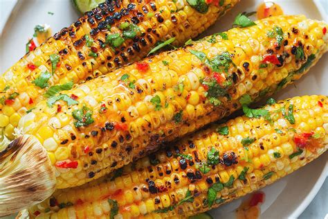 outdoor bbq kitchen ideas grilled corn on the cob recipe with chili lime butter