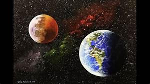 Acrylic Space Painting Time Lapse | Chris Pickstock Art ...