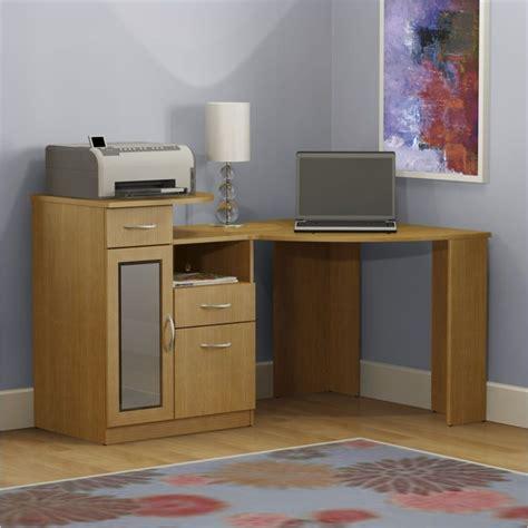 corner desk home office bush furniture vantage corner home office wood light