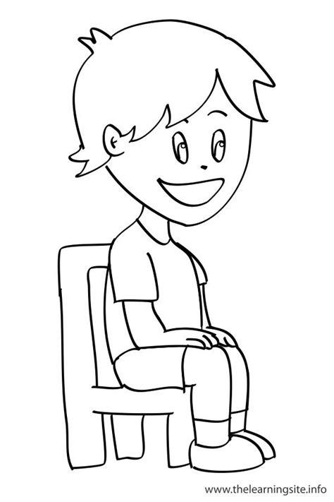 coloring pages outline verbs sit esl kids pinterest