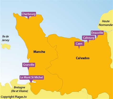 Carte De Plage Normandie by Plages Basse Normandie Liste Des Stations Baln 233 Aires
