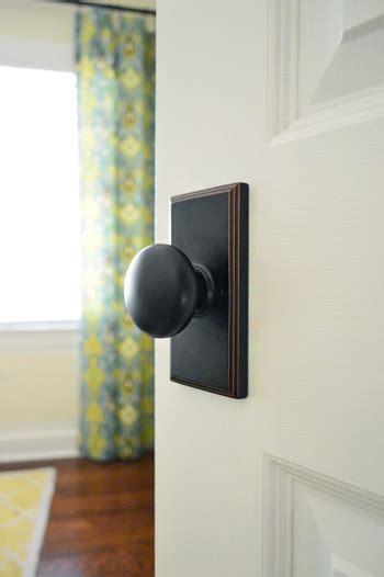 updating interior doors  installing  doorknobs