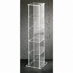 Range Cd Colonne : tour de rangement cary un meuble transparent design ~ Teatrodelosmanantiales.com Idées de Décoration